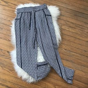 Hei Hei Anthropologie Silk Kaleidoscope Crop pants